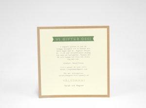 Österlen Vintage Bröllopskort baksida alt 1