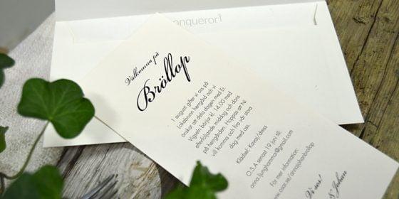 Stockholm Ivory bröllopskort