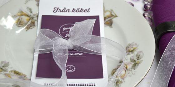 Torekov vinröd bröllopsdukning in