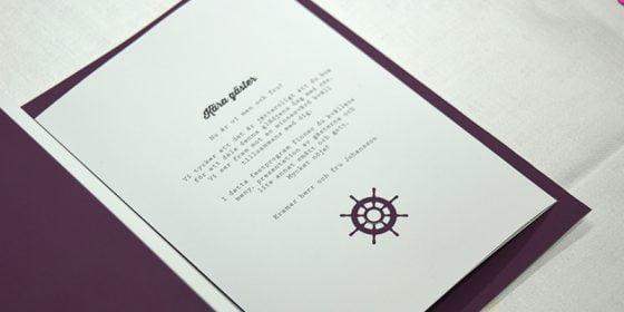 Torekov bröllopsprogram in