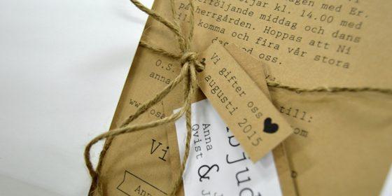 Ekobröllop miljöbröllop återvunnet papper