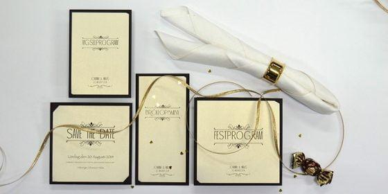 Champagne Guld Lyxiga bröllopskort i glittrigt guld in