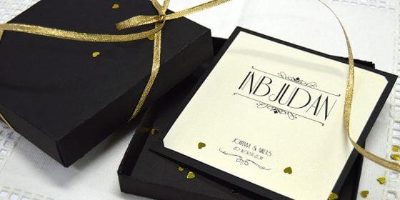Champagne Guld meny Lyxiga bröllopskort i glittrigt guld in