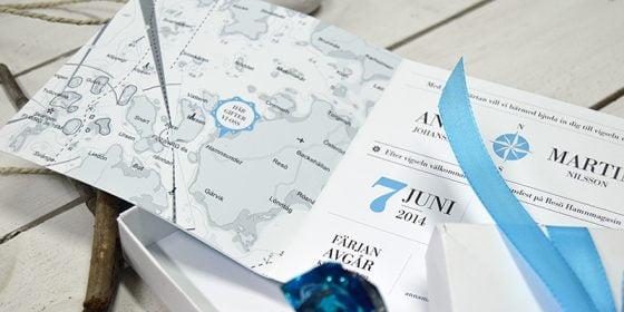 Mitt uppslag bröllopsinbjudan Bohuslän