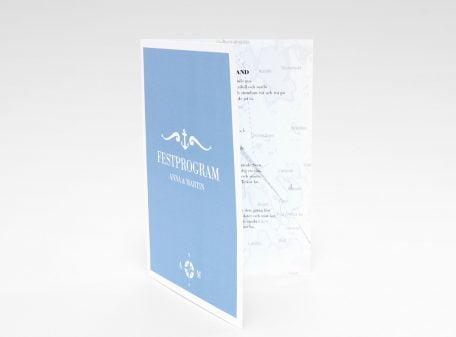 Bohuslän festprogram blått