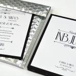 Champagne silver kuvert med inbjudan