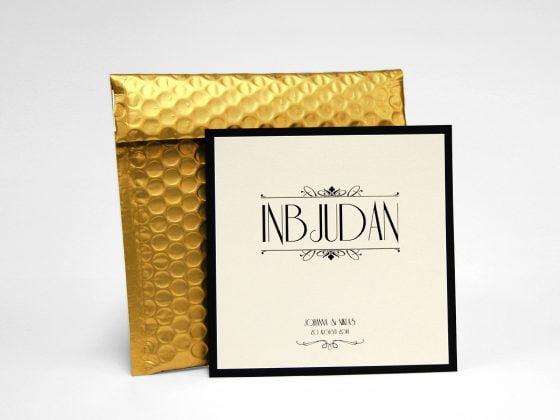 Champange bröllopskort med bubbelkuvert