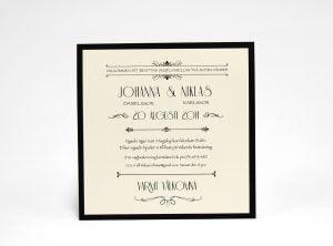 Champange Guld bröllopsinbjudningskort sid 2