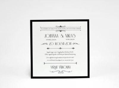Champange silver bröllopsinbjudan sid 2