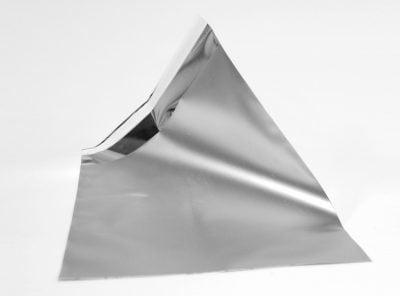 Champange silver stort silvrigt foliekuvert