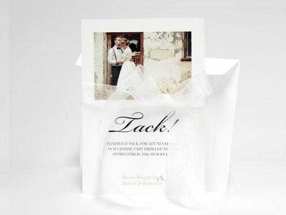 Vaxholm tackkort med vitt kuvert