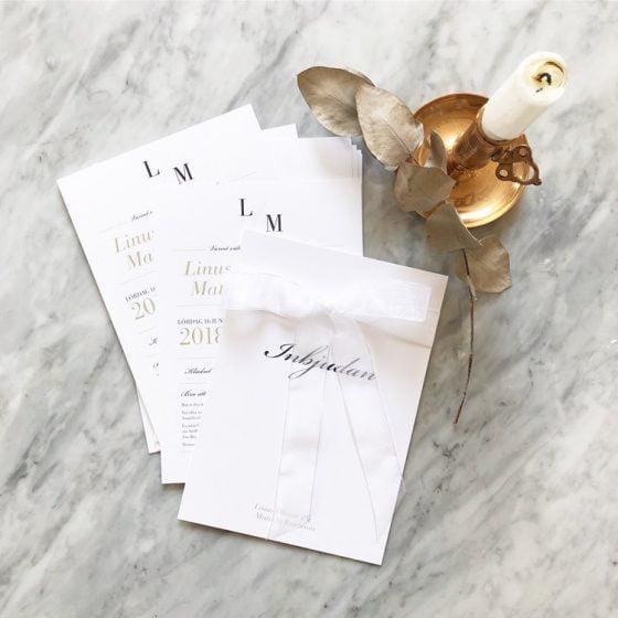 romantiska bröllopstrycksaker inbjudningskort