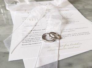 Vaxholm bröllopskollektion – romantiskt bröllopstryck