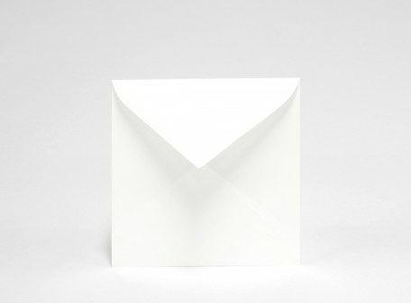 Visby eko vitt kvadratiskt kuvert
