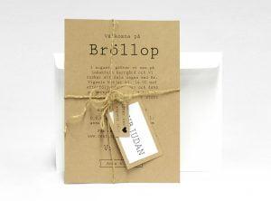 Visby Eko bröllopsinbjudan med kuvert