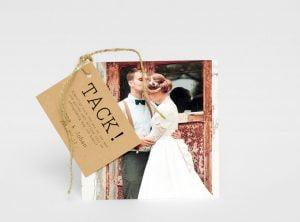 Visby tackkort bröllop