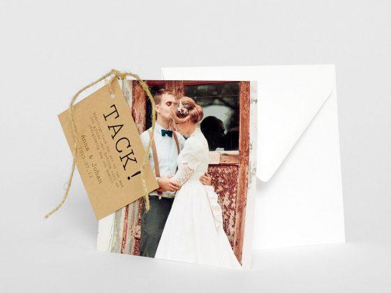Visby tackort bröllop med kuvert