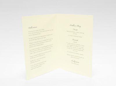 Stockholm Ivory festprogram bröllop sid 2 och 3