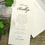 Stockholm Ivory bröllops Inbjudningkort kuvert in