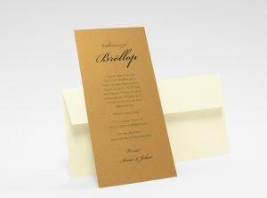 Stockholm Koppar bröllopsinbjudningskort med kuvert