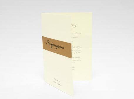 Stockholm Koppar festprogram till bröllop sid 1