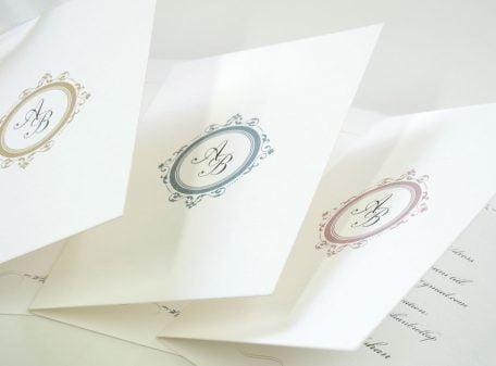 Inbjudningkort bröllop på slott
