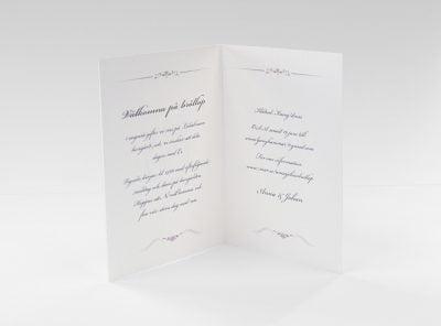 Bröllopskort Bröllop på slott insida Chateau