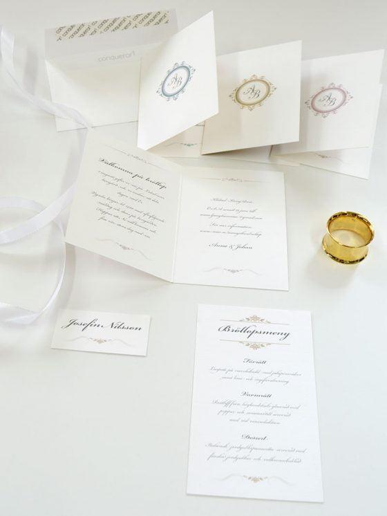 Château-bröllopskort