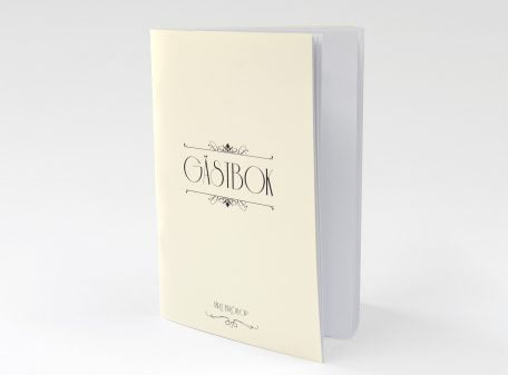 Gästbok till bröllop Champange Guld