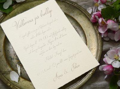 Handgjort-papper-Bröllopskort-Särö