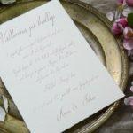 Bröllopskort på handgjort papper