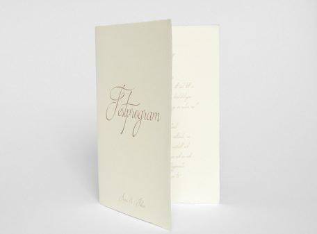 Bröllops festprogram på handgjort papper Särö