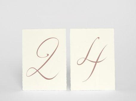 Bordsnumrering på handgjort papper Särö