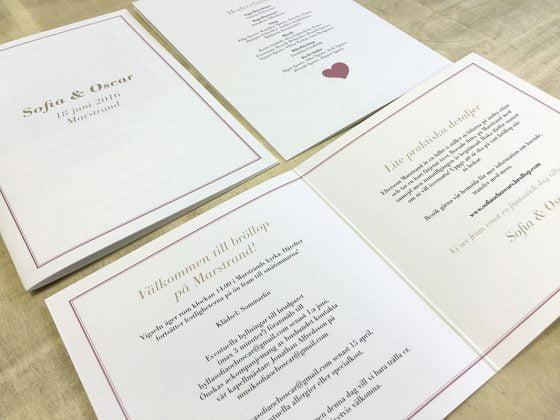 Inbjudan för bröllop skräddarsytt