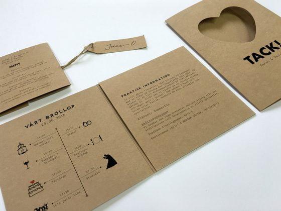 Miljövänlig-eko-bröllopskort