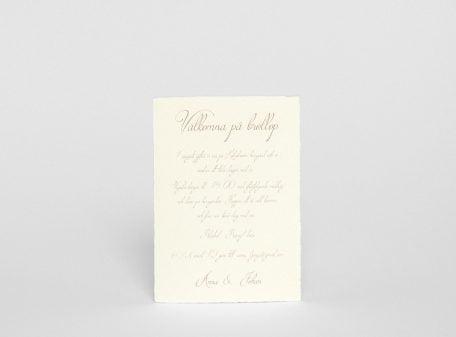 Handgjort papper bröllopskort Särö