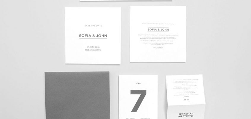 bröllop modern stil svart-och-vitt