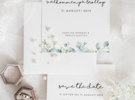 bröllop eucalyptus inbjudan