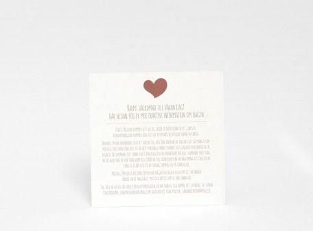 Informationskort till bröllopsinbjudan Majorna