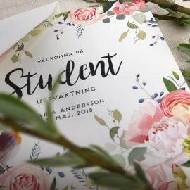 Inbjudningskort student