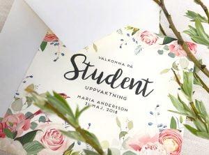 inbjudningskort och tackkort till studenten