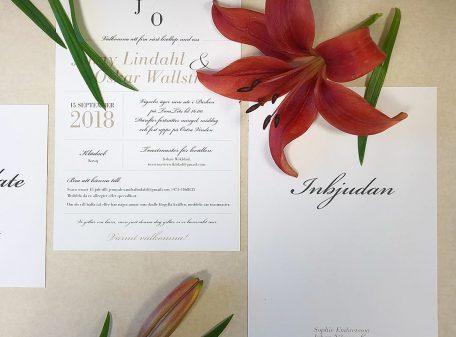 Vaxholm-bröllopsinbjudan
