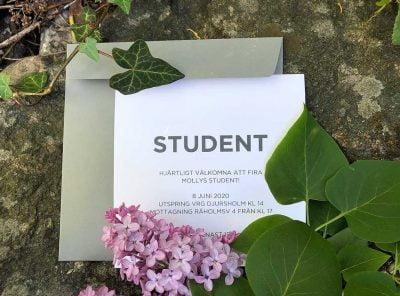 Inbjudningskort Student Funki