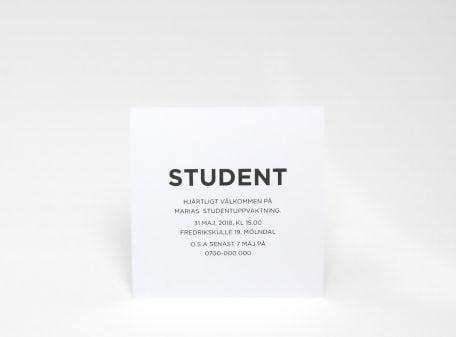 Inbjudningskort-student