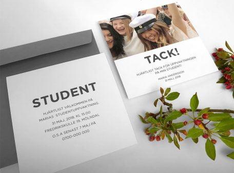 Studentinbjudningskort-tackkort-grått-Funkis-studentkollektion