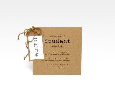 Inbjudningskort student Visby Eko Vintage utan kuvert