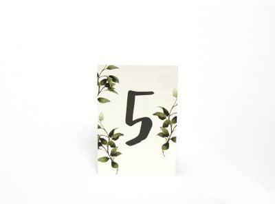 Bordsnummer med siffror Göteborgs Eko