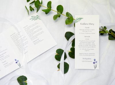 Bröllopsprogram flower