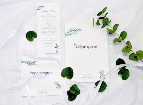 Vigselprogram Festprogram Flower