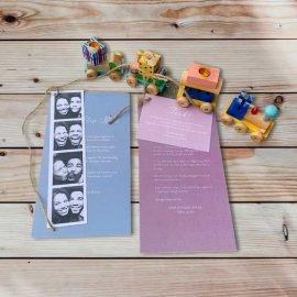 Inbjudningskort till dop eller barnkalas